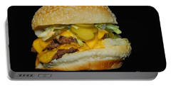 Portable Battery Charger featuring the photograph Burgerlicious by Cindy Manero