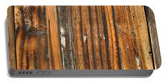 Burned Wood Grunge Background Portable Battery Charger
