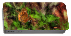 Portable Battery Charger featuring the photograph Butterfly Camouflage by Dan Friend