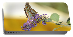 Butterfly Lavender Branch Portable Battery Charger by Andrea Hazel Ihlefeld