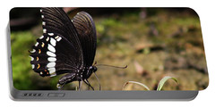 Butterfly Feeding  Portable Battery Charger by Ramabhadran Thirupattur