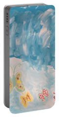 Portable Battery Charger featuring the painting Butterfly Flight by Sonali Gangane