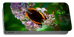Butterfly On Lilac Portable Battery Charger