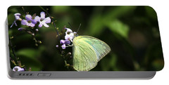 Butterfly On Purple Flower Portable Battery Charger by Ramabhadran Thirupattur