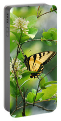 Portable Battery Charger featuring the photograph Butterfly Tiger Swallow by Peggy Franz