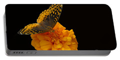 Portable Battery Charger featuring the photograph Butterfly Visitor by Cindy Manero