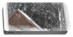 Cabin In The Winter Portable Battery Charger