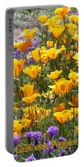 Portable Battery Charger featuring the photograph California Poppies by Carla Parris