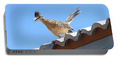 Portable Battery Charger featuring the photograph California Roadrunner by Carla Parris