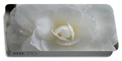 Camellia After Rain Storm Portable Battery Charger