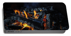 Portable Battery Charger featuring the photograph Campfire by Fran Riley