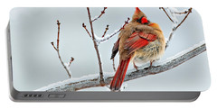 Cardinal I The Snow  Portable Battery Charger