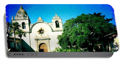 Portable Battery Charger featuring the photograph Carmel Mission by Nina Prommer