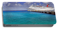 Carnival Elation Docked At Cozumel Portable Battery Charger by Jason Politte