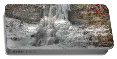 Cascades In Winter 1 Portable Battery Charger by Dan Stone
