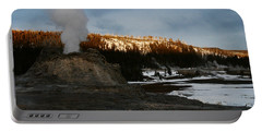 Castle Geyser Yellowstone National Park Portable Battery Charger