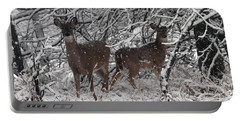 Portable Battery Charger featuring the photograph Caught In The Snow Storm by Elizabeth Winter
