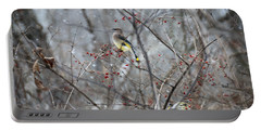 Cedar Wax Wing 3 Portable Battery Charger by David Arment