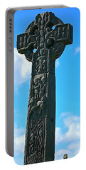 Portable Battery Charger featuring the photograph Celtic Cross by Charlie and Norma Brock