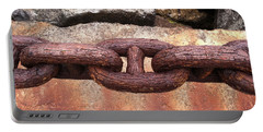Portable Battery Charger featuring the photograph Chain Under The Golden Gate Bridge by Bill Owen