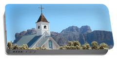 Portable Battery Charger featuring the photograph Chapel In Superstitions by Penny Meyers