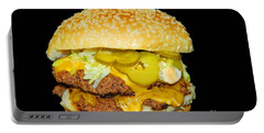Portable Battery Charger featuring the photograph Cheeseburger by Cindy Manero