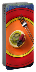 Cheesecake On Plate Portable Battery Charger
