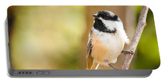 Portable Battery Charger featuring the photograph Chickadee by Cheryl Baxter
