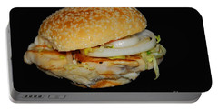 Portable Battery Charger featuring the photograph Chicken Sandwich by Cindy Manero