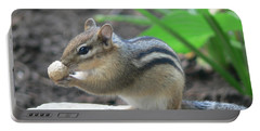 Portable Battery Charger featuring the photograph Chipmunk by Laurel Best