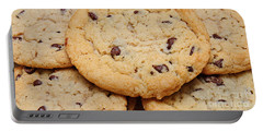 Chocolate Chip Cookies Pano Portable Battery Charger by Andee Design