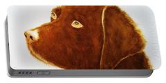 Chocolate Labrador  Portable Battery Charger