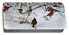 Christmas Feast Portable Battery Charger by Joe Faherty