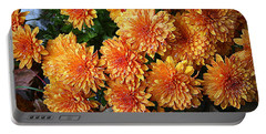 Chrysanthemums Portable Battery Charger by Kay Novy