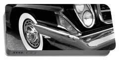 Chrysler 300 Headlight In Black And White Portable Battery Charger