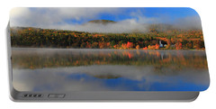 Church Across The Lake-panoramic Portable Battery Charger