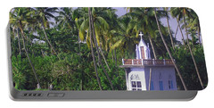 Church Located On A Coastal Lagoon In Kerala In India Portable Battery Charger