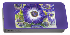 Cineraria Of South Africa  Portable Battery Charger by Bernadette Krupa