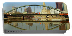 City Reflections Through A Bridge Portable Battery Charger