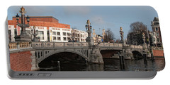 Portable Battery Charger featuring the digital art City Scenes From Amsterdam by Carol Ailles