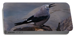 Portable Battery Charger featuring the photograph Clark's Nutcracker by Cheryl Baxter