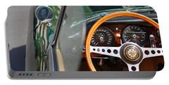 Classic Green Jaguar Artwork Portable Battery Charger