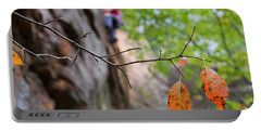 Climber In Fall Portable Battery Charger