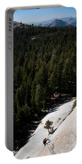 Climber In Yosemite Portable Battery Charger