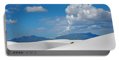 Clouds Over The White Sands Portable Battery Charger