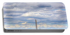 Clouds Over Washington Dc Portable Battery Charger