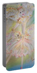 Coffee Fairy Portable Battery Charger by Judith Desrosiers