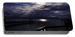 Portable Battery Charger featuring the photograph Cold Night On The Water by Clayton Bruster