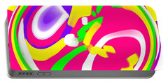 Portable Battery Charger featuring the digital art Color Roundup by George Pedro