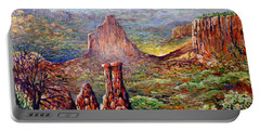 Portable Battery Charger featuring the painting Colorado National Monument by Lou Ann Bagnall